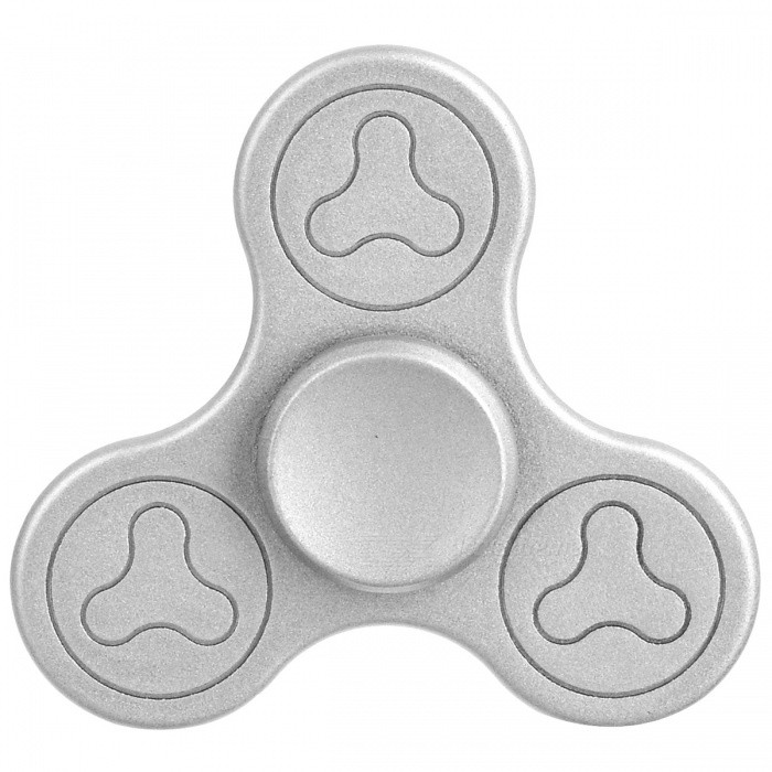 BLCR Tri-Spinner Fidget Toy EDC Hand Spinner for Autism / ADHD -Silver