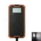 Ismartdigi RT-1 6LED 8000mAh Waterproof Power Bank - Black + Orange