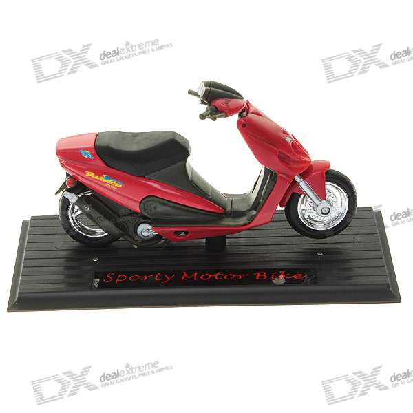 11303 Alloy + Plastic Motorcycle Model (Color Assorted)
