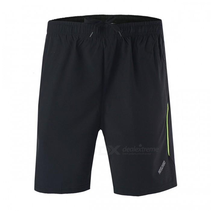 ARSUXEO B163 Sports Running Mens Short Pant - Black + Green (L)Form  ColorBlack + GreenSizeLModelB163Quantity1 DX.PCM.Model.AttributeModel.UnitMaterialPolyester, SpandixGenderMensSeasonsSpring and SummerShoulder WidthNo DX.PCM.Model.AttributeModel.UnitChest GirthNo DX.PCM.Model.AttributeModel.UnitSleeve LengthNo DX.PCM.Model.AttributeModel.UnitWaist68~98 DX.PCM.Model.AttributeModel.UnitHip Girth116 DX.PCM.Model.AttributeModel.UnitTotal Length47 DX.PCM.Model.AttributeModel.UnitThigh Girth64 DX.PCM.Model.AttributeModel.UnitCrotch Length32/40 DX.PCM.Model.AttributeModel.UnitSuitable for Height160~175 DX.PCM.Model.AttributeModel.UnitBest UseCycling,Mountain Cycling,Recreational Cycling,Road Cycling,Triathlon,Bike commuting &amp; touring,Others,Leisure, Outdoor sportsSuitable forAdultsTypeShort PantsOther FeaturesBreathable / Quick Dry / Anatomic Design / WickingPacking List1 x Short pant<br>