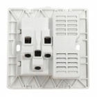 AC 110~250V / 13A Dual USB AC Power Socket with Switch Panel - White