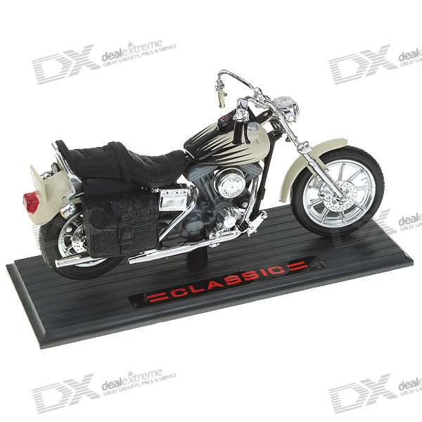 11302 Alloy + Plastic Motorcycle Model (Color Assorted)