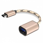 Woven Type-C USB3.1 Data Adapter Cable for Type-C Interface Devices