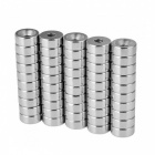 JEDX 15*4-4mm Round NdFeB Magnet Cubes w/ Round Hole - Silver (50 PCS)