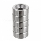 JEDX 15*4-4mm Round NdFeB Magnet Cubes w/ Round Hole - Silver (5 PCS)