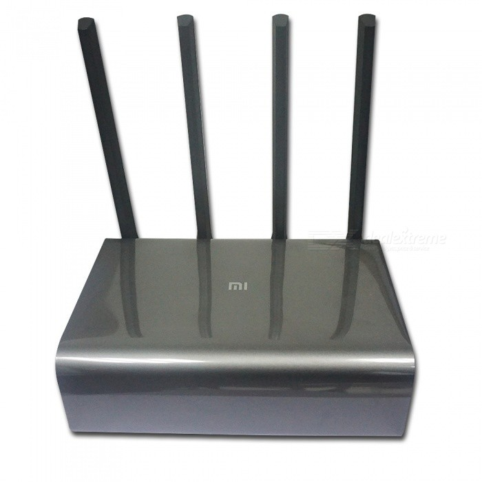 Xiaomi Mi Router Pro 2.4G/5GHz Dual Band Wi-Fi Repeater - Space GreyRouters<br>Form  ColorSpace GreyQuantity1 DX.PCM.Model.AttributeModel.UnitMaterialMagnesium alloyShade Of ColorBlackTypeRouter,Others,WirelessTransmission RateOthers,800 DX.PCM.Model.AttributeModel.UnitNetwork ProtocolsIEEE 802.11a,IEEE 802.11n,IEEE 802.11b,IEEE 802.11g,Others,IEEE 802.3/3u/3abWireless Data RatesOthers,2.4G WiFi 800MbpsUI LanguageChineseSupport DD-WRTYesSupports SystemOthers,Web Windows, Android, MacOS, iOSWorking Temperature0~40 DX.PCM.Model.AttributeModel.UnitWorking Humidity10%~90%RHPacking List1 x Xiaomi Router Pro1 x Power supply (12V/1.5A)1 x Description1 x Warranty card<br>