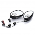 Motorcycle Rearview Mirror 2*10W Stereo FM Radio MP3 Player with SD/MMC/TF Card Slot (Pair)