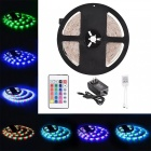 KWB Waterproof 3528 RGB 36W LED Strip Lights + 24-Key Remote Control
