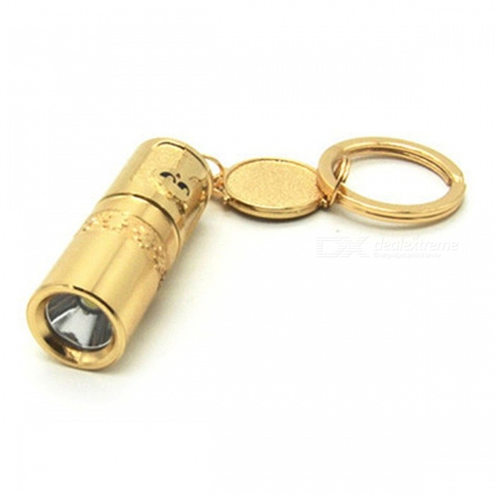 Aluminum Alloy Mini Super Bright LED Electric Flashlight - Golden