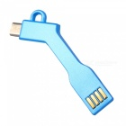 Creative Fashion Keychains Style Android USB Cable - Sky Blue