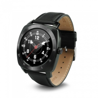 DOMINO DM88 Leather Strap  Bluetooth Smart Watch - Black