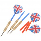 6025 Professionelle Sharp Metall Darts Set - Gold + Blau + Rot (3-teiliges Set)