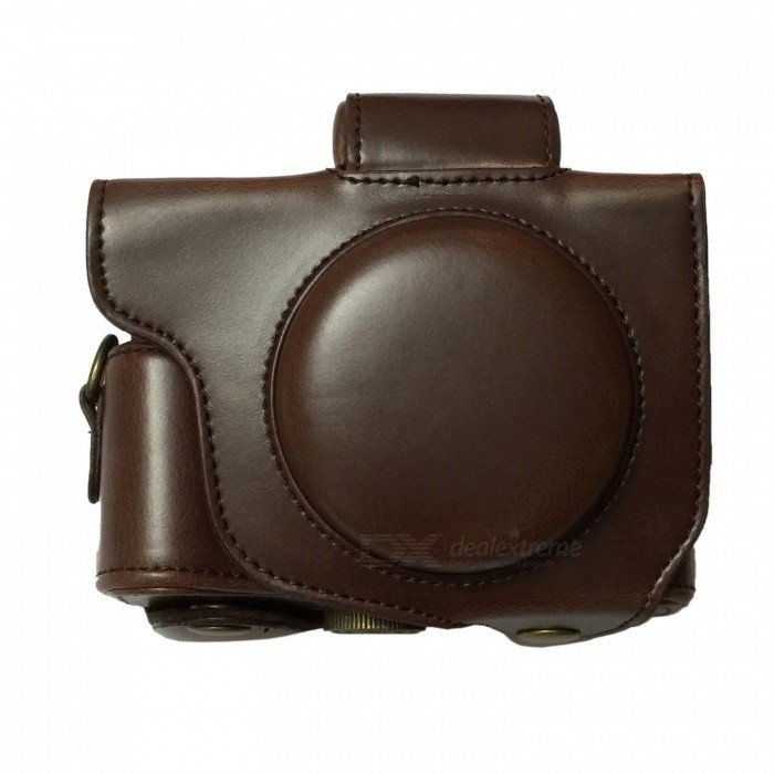 Ismartdigi PU Leather Camera Case Bag for Canon G5X Camera - CoffeeBags and Cases<br>Form  ColorCoffeeShade Of ColorBrownMaterialPUQuantity1 DX.PCM.Model.AttributeModel.UnitCompatible BrandCanonCompatible ModelsG5XInner Dimension11 * 8 * 5.5 cmDimension12 * 11 * 6 DX.PCM.Model.AttributeModel.UnitPacking List1 x Case<br>
