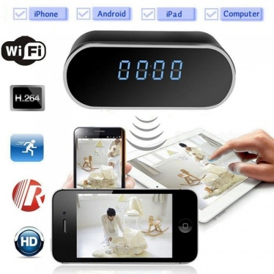 Mini Electronic Clock DVR H.264 Full HD 1080p Infrared Recorder