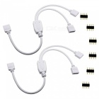 KWB kwb097 1 to 2 Splitter Cable + 6 Male 4 Pin Plugs (2Pcs) - White