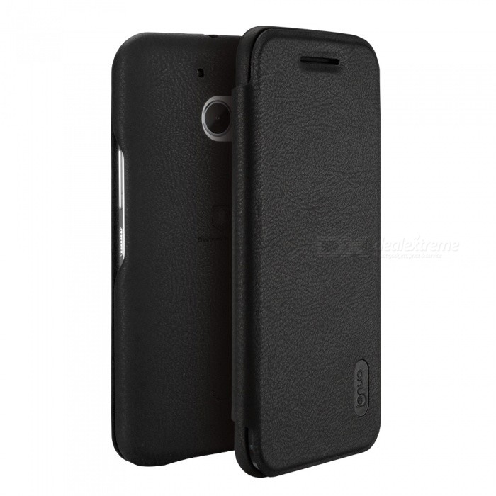 Lenuo ledream Series Leather Cover Case for HTC M10 - Black
