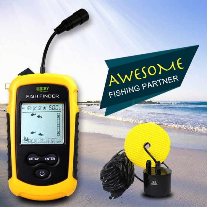 Lucky ff1108 1 100m portable hd fish finder w green led for Sa fishing promo code free shipping