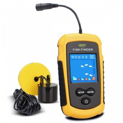 LUCKY FF1108-1 100m Portable HD Fish Finder w/ White LED Backlight