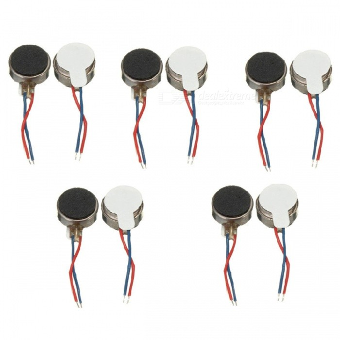 1027 Vibration Motor 10x2.7mm Button Type Vibrating Motors (10 PCS)