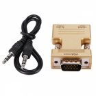 BSTUO HDMI F na VGA Converter M w / 3,5 mm audio vstup Adapter - Golden