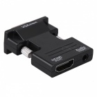 BSTUO HDMI F to VGA M Converter w/ 3.5mm Audio Input Adapter - Black