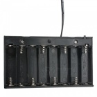 8xAA / 2A universelle batterie clip titulaire 12V stockage cas - noir