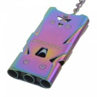 FURA Outdoor Survival Tri-Channel Stainless Steel Whistle - Colorful