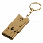 FURA Outdoor Survival Tri-Channel Stainless Steel Whistle - Golden