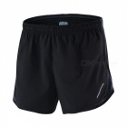 ARSUXEO Sport Marathon Running Men's Pants Shorts - Black + Grey (3XL)