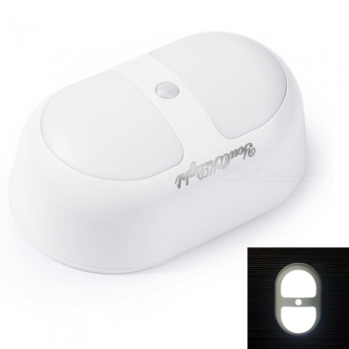 YouOKLight Mini LED Wireless Human Sensor Night Light Cold White