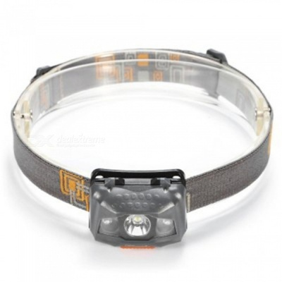 UltraFire W03 3-LED Headlamp 4-Mode Cold White Light - Grey