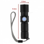 Household Mini USB Rechargeable 3-Mode Home Flashlight - Black