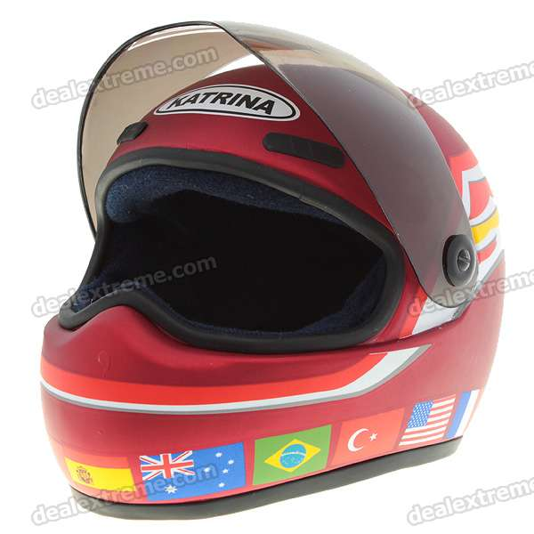National Flag Figure Motorcycle Safety Helmet Model (Red)