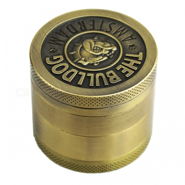 Mini 4 Lattice Bulldog Pattern Alloy Grinder - Bronze