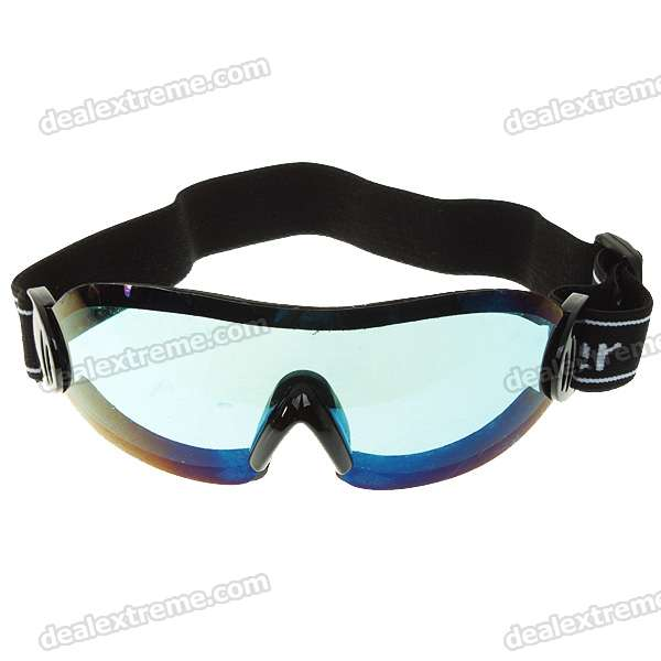 Soft Foam Inner Core Safety Goggles (Blue)