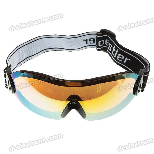 Soft Foam Inner Core Safety Goggles (Gold Lens)