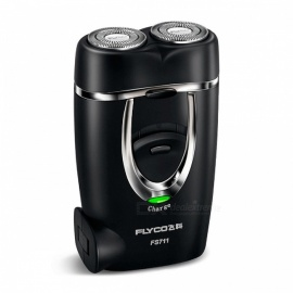 FLYCO FS711 Rotatable Rechargeable Dual Head Electric Shaver - Black