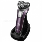 FLYCO FS376 Floating Washable Shaver Electric Razor - Deep Purple