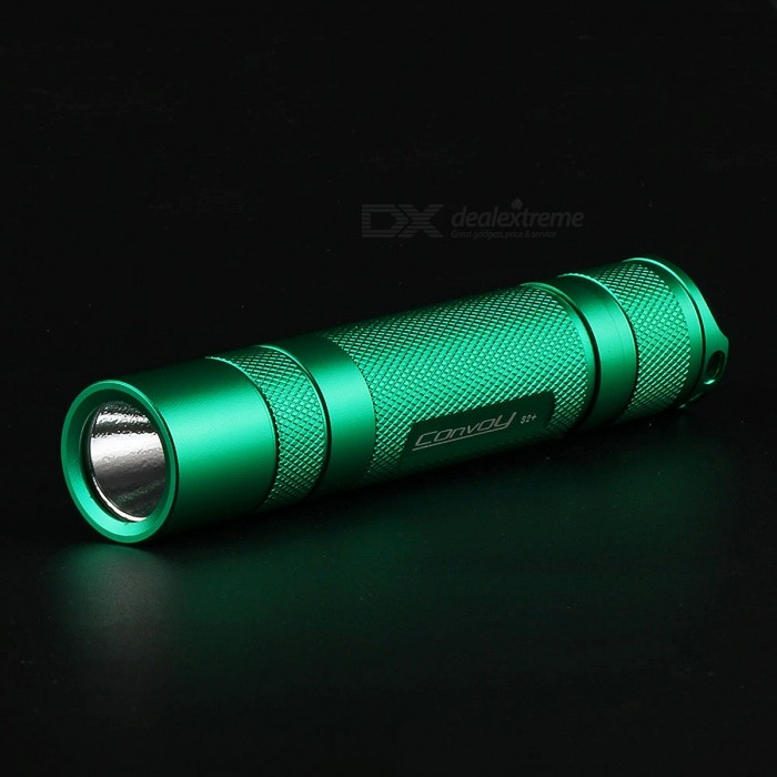Convoy S2+ 960lm XM-L2 T6-4C 3 / 5 Modes LED Flashlight Torch - Green