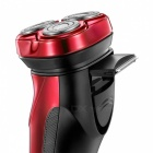FLYCO FS338 3D Floating Shaver Rechargeable Electric Razor - Red