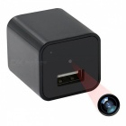 1080P USB Wall Charger Mini Camera w/ 16GB Memory - Black (EU Plug)