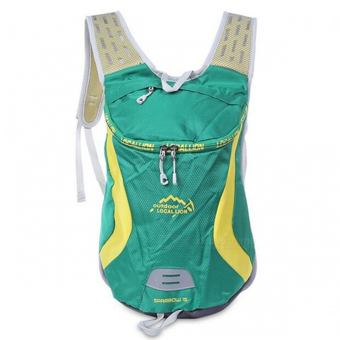 LOCAL LION 526 Outdoor Sports 15L Rucksack - Grün + Gelb
