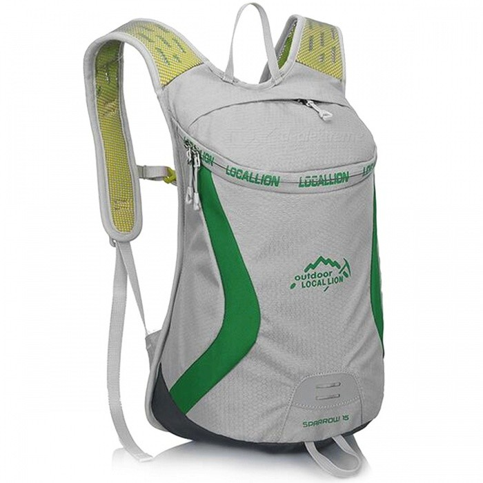 LOCAL LION 526 Outdoor Sports Cycling Backpack - Gray + Green (15L)