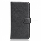 Protective PU Leather Case Cover w/ Card Slots for Xiaomi Mix - Black