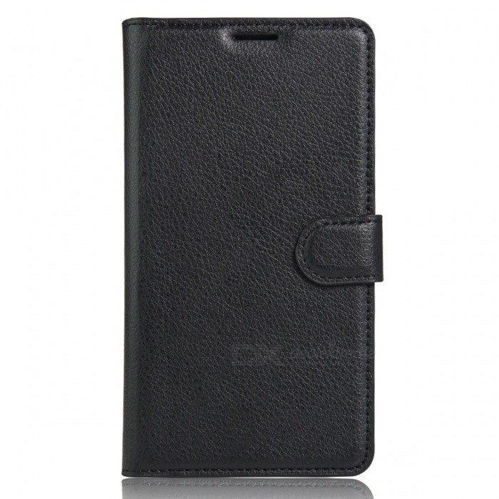 PU Leather Case Cover w/ Card Slots for ASUS Zenfone 3 Max - Black