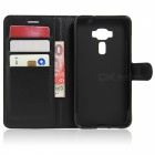PU Leather Wallet Case w/ Stand for ASUS Zenfone 3 ZE552KL - Black