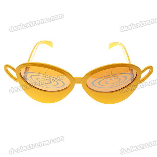 UV400 UV Protection Coffee Figure Glasses Plastic Frame Propanoic Acid lens (Color Assorted)