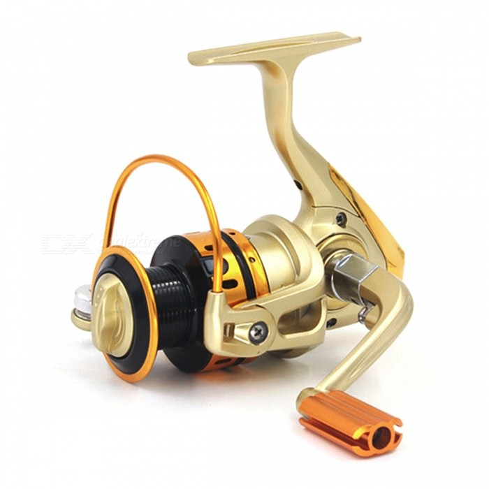 DAO DE LAI MR7000 Outdoor Fishing Spinning Reel - Champagne GoldenFishing Reels &amp; Rods<br>Form  ColorChampagne golden (7000 Series)ModelMR7000Quantity1 DX.PCM.Model.AttributeModel.UnitMaterialAluminum alloy + metalFishing Site River,Pool,Sea,Sea Boat Fishing,Rock Fishing,Reservoir,Stream,PondBearing Number10Gear Ratio4.7:1Powered ByHand-CrankPacking List1 x Fishing reel<br>