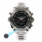 16GB HD 1080P Waterproof Watch Infrared Video Hidden Camera - Silver
