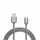 Mini Smile 2.1A Type-C to USB 2.0 Charging Data Cable - Grey (1m)